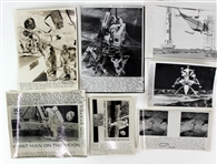 1969 NASA Apollo 11 Mission Laser Photo Collection - Lot of 12