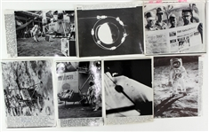 1969 NASA Apollo 11 Mission Laser Photo Collection - Lot of 16