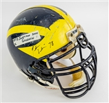 2001 Jonathan Goodwin Michigan Wolverines Signed Game Worn Football Helmet (MEARS LOA/JSA)