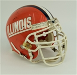 2001 Brandon Moore Illinois Fighting Illini Signed Game Worn Football Helmet (MEARS LOA/JSA)