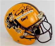 2004 Terry Richardson Arizona State Sun Devils Signed Game Worn Football Helmet (MEARS LOA/JSA)