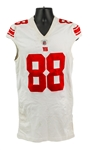 2011 (October 2) Hakeem Nicks New York Giants Game Worn Road Jersey (MEARS A10 & PSA/DNA)