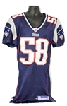 2005 Matt Chatham New England Patriots Game Worn Home Jersey (MEARS A10/Team COA)