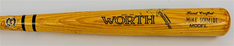 1983-88 Mike Schmidt Philadelphia Phillies Signed Worth Professional Model Game Used Bat (MEARS A10/JSA)