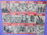 1944-45 Yank WWII Magazine Collection - Lot of 13 w/ Down Under, British & Far East Editions