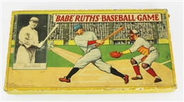 1936 Babe Ruths Milton Bradley Baseball Board Game