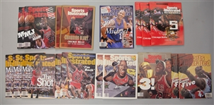 1993-2003 Michael Jordan Chicago Bulls Sports Illustrated Magazines - Lot of 18 w/ Commemorative Issues & More