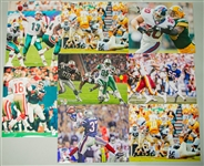 1990s-2000s NFL / MLB / NBA 16x20 Color Photos Including Green Bay Packers, Chicago Bulls, and more... (Lot of 100+)