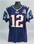 2009 Tom Brady New England Patriots Home Jersey (MEARS A5)
