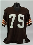 1982-83 Bob Golic Cleveland Browns Game Worn Home Jersey (MEARS A10)