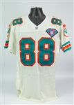 1994 Keith Jackson Miami Dolphins Game Worn Road Jersey (MEARS A10)