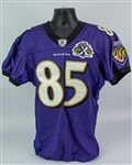 2005 Derrick Mason Baltimore Ravens Game Worn Home Jersey (MEARS A10)