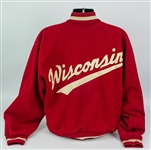 1960s Wisconsin Badgers Letterman Style Coaching Jacket of Hall of Famer Bob Johnson