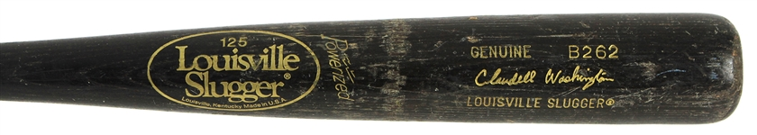 1986-88 Claudell Washington New York Yankees Louisville Slugger Professional Model Game Used Bat (MEARS LOA)