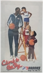 "1982 George ""Sky"" Bell Harlem Wizards Brooks Athletic Shoes 18 x 30.5 Poster"
