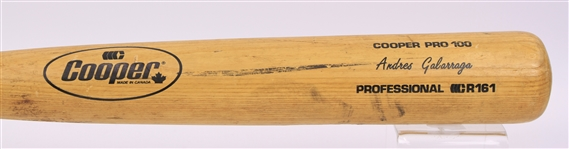 1985-86 Andres Galarraga Montreal Expos Cooper Professional Model Game Used Bat (MEARS LOA)