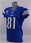 2012 Calvin Johnson Detroit Lions Home Jersey (MEARS A5)