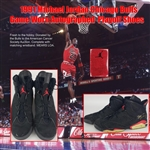 1991 Michael Jordan Chicago Bulls Autographed Game Worn Playoff Shoes & Matching Wristband (MEARS/JSA/Consignor LOA)