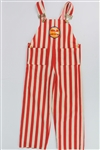 1970s Harlem Globetrotters Red & White Striped Youth Overalls
