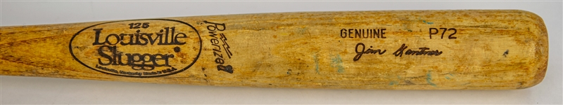 1990 Jim Gantner Milwaukee Brewers Louisville Slugger Professional Model Game Used Bat (MEARS LOA)