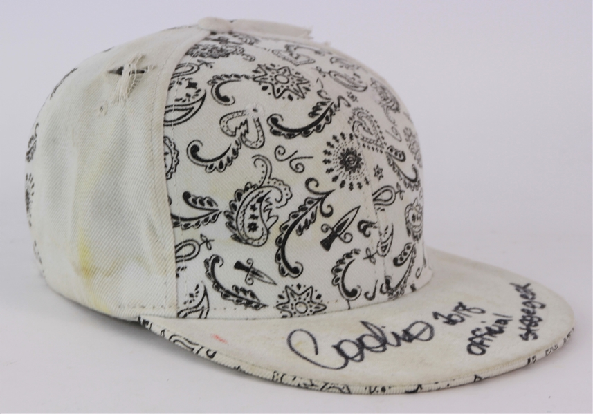 2018 Coolio Signed Official Stage Gear Concern Worn Hat (MEARS LOA/JSA)