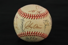 1996 Texas Rangers Team Signed OAL Budig Baseball w/ 27 Signatures Including Will Clark, Darryl Hamilton, Kevin Brown & More (JSA)