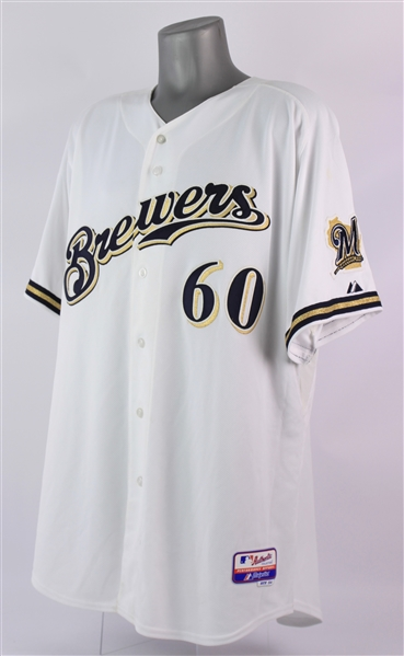 2010 (August 7) Todd Coffey Milwaukee Brewers Signed Game Worn Home Jersey (MEARS LOA/JSA/MLB Hologram)