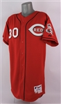 2005 Ken Griffey Junior Cincinnati Reds Alternate Jersey (MEARS A5)