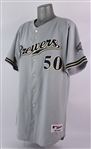 2007 Chris Spurling Milwaukee Brewers Game Worn Road Jersey (MEARS LOA)
