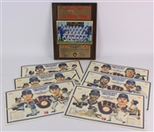 1982 Milwaukee Brewers Memorabilia Collection - Lot of 7 w/ McDonalds Placemats & Miller Time Team Photo Plaque