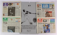 1998 Mark McGwire Sammy Sosa Michael Jordan USA Today Newspaper & Printing Plate Collection - Lot of 35