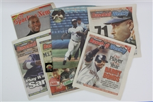 1970s-2000s Baseball Memorabilia Collection - Lot of 7 w/ Hank Aaron, Barry Bonds, 1991 All Star Game Pin & More