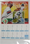 "1980s Minnesota Twins 18"" x 24"" 7-11 Fire Prevention Trading Card Poster"