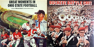 1970s Ohio State Buckeyes Record Albums - Lot of 2 w/ Great Moments in Football Woody Hayes Tribute & Buckeye Battle Cry!