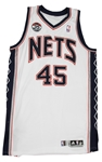 2011-12 Gerald Wallace New Jersey Nets Game Worn Home Jersey (MEARS A10/Steiner) Last New Jersey Season