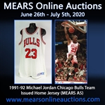 1991-92 Michael Jordan Chicago Bulls Team Issued Home Jersey (MEARS A5)