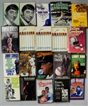 1970s-2000s Hardcover Sports Book Collection - Lot of 20 w/ Loose Balls, Instant Replay, Larry Bird, Joe Namath, & More