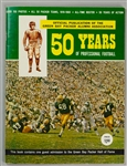 1969 Green Bay Packers 50 Years of Professional Football Alumni Association Yearbook