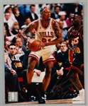 "1995-98 Dennis Rodman Chicago Bulls Signed 8"" x 10"" Photo (JSA)"