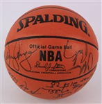 1992-93 Phoenix Suns Team Signed ONBA Stern Basketball w/ 14 Signatures Including Charles Barkley, Dan Majerle, Tom Chambers & More (JSA)