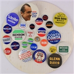1970s-80s Political Pinback Button Collection - Lot of 26 w/ Richard Nixon, George Bush, Hubert Humphrey & More