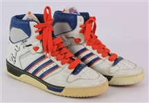 1985-86 Patrick Ewing New York Knicks Signed Game Worn Adidas Conductor Sneakers (MEARS LOA/JSA) Rookie Season