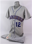 1987 Mark Langston Seattle Mariners Game Worn Road Jersey w/ Non-Matching Uniform Pants (MEARS A10)