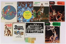 1968-78 Milwaukee Bucks Memorabilia Collection - Lot of 12 w/ Programs, Ticket Stubs, Books & More (JSA)