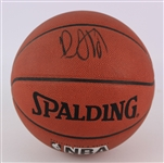 2000s Damon Stoudamire Portland Trail Blazers Signed Basketball (JSA)