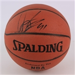 1997 Dennis Rodman Chicago Bulls Signed Basketball (JSA)