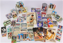1950s-2000s Baseball Football Basketball Trading Cards - Lot of 100s w/ Unopened Packs, Slabbed Cards & More