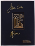 1980 Jim Craig Mike Eruzione USA Hockey Signed XIII Olympic Winter Games Lake Placid Softcover Official Results Book (JSA)