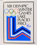 "1980 Jim Craig USA Hockey Signed 19"" x 24"" XIII Olympic Winter Game Lake Placid Poster (JSA)"