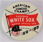 "1959 Chicago White Sox American League Champions 1 3/8"" Pinback Button"